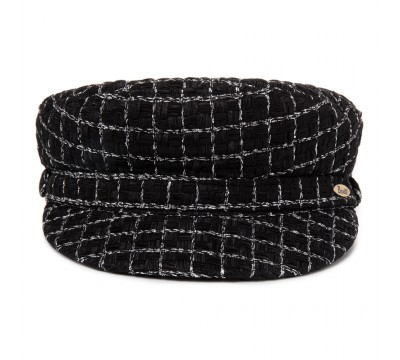 Cap - Shipper- Linton Tweed - black/silver