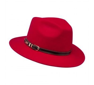 Fedora hat - Cleo - Red