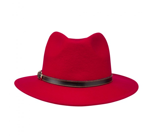 Bronté Fedora hat - Cleo - Red