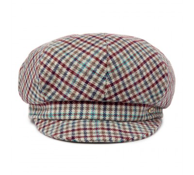 Cap - Romee  - burgundy/blue check