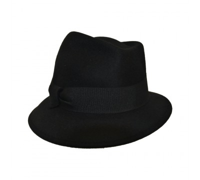 Trilby hat - Jade - black