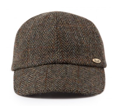 Cap - Bram - brown green Harris Tweed