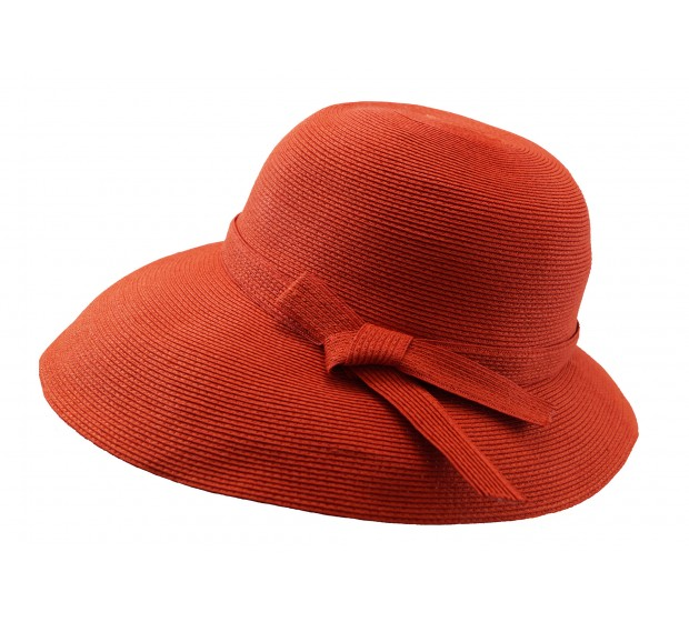 Wide brim hat - Joanna - orange - travel hat