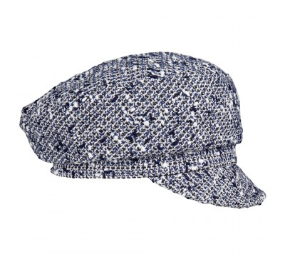 Cap - Ella - Linton Tweed - navy/white