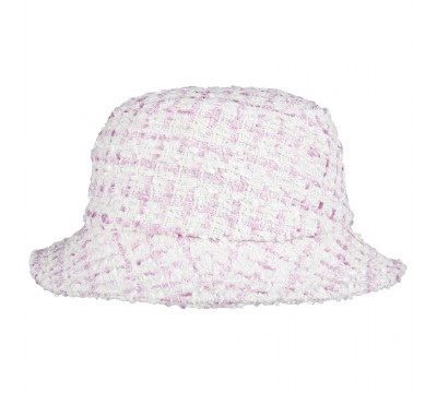 Bucket hat -  Matt - white/pink