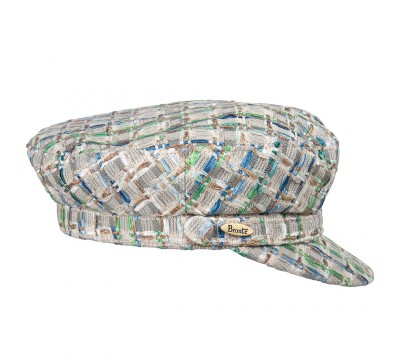 Cap - Shipper - Linton Tweed - blue/green/ivory