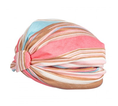 Turban - Benthe- pink stripes
