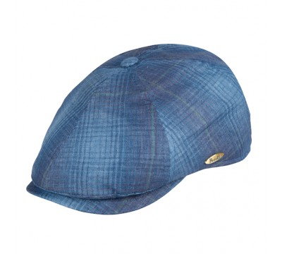 Cap - Rocky - blue check<br />
