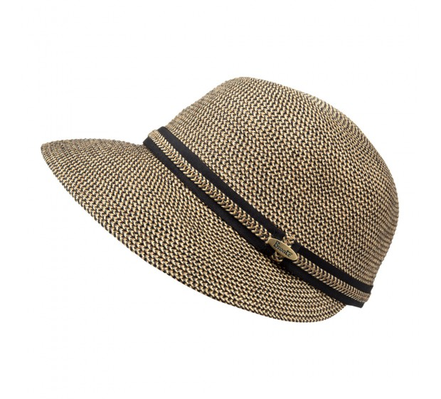 Cap - LindaB - black/natural melee - travel hat