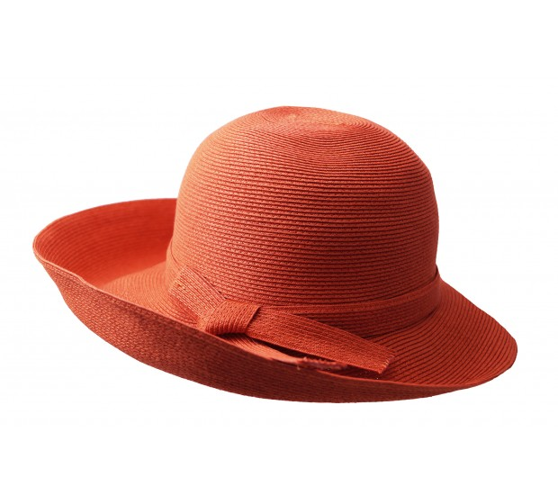Bronté Wide brim hat - Joanna - orange - travel hat