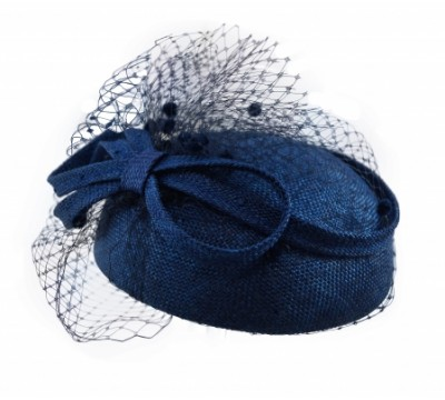 ceremonial hat - Iris+voile - navy