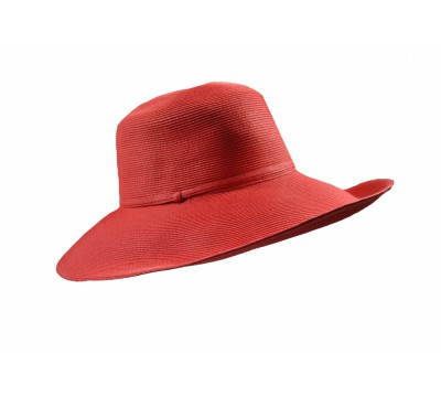 Wide Brim hat -Melina - red